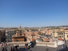 View of Rome from Top of Spanish Steps